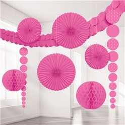 Roze Stippen Decoratie Kit