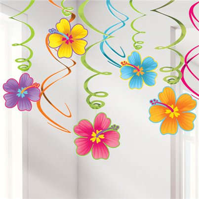 Luau Hangende Swirls - 60 cm Hawaiiaanse Decoratie