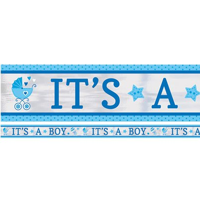 'It's a Boy' Baby Shower Banner - 7.6m