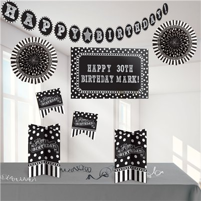 Black & White Decoratie Kit Te Personaliseren