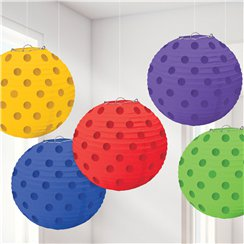 Regenboog Folie Stippen Hangende Lampion Decoraties