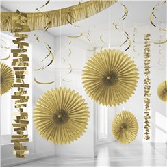 Goud Papier & Folie Kamer Decoratie Set