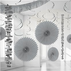 Zilver Papier & Folie Kamer Decoratie Set