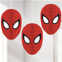 Spiderman Honingraat Hangende Decoraties