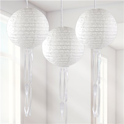 Witte Hangende Lampion Decoraties