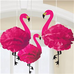Pluizige Flamingo Hangende Decoraties
