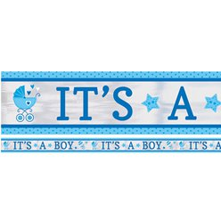 Baby Shower 'It's a Boy' Folie Banner - 7.6m