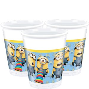 Despicable Me Bekers - 200 ml Plastic Feestbekers