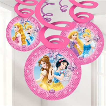 Disney Prinses Glitter Hangende Decoraties - Hangende Swirls
