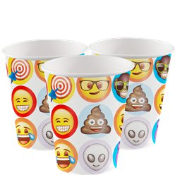 Emoji Bekers - 255 ml Papieren Feestbekers