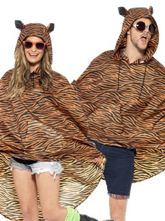 Unisex Tijger Party Poncho