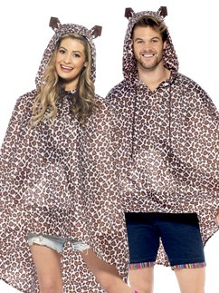 Unisex Luipaard Party Poncho