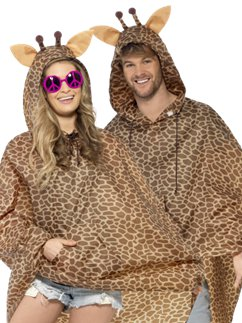 Uniseks Giraffe Party Poncho