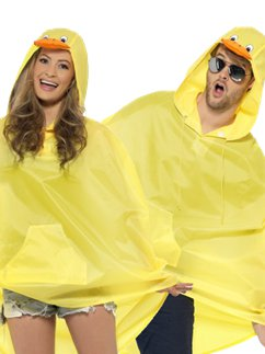 Uniseks Eend Party Poncho
