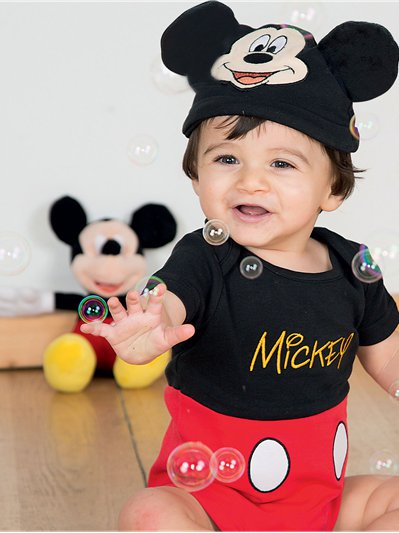 Mickey Mouse Jersey Set - Baby Kostuum