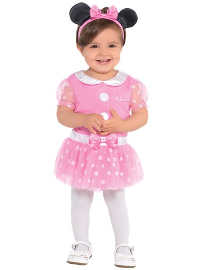 Minnie Mouse Roze Jersey Set - Baby Kostuum