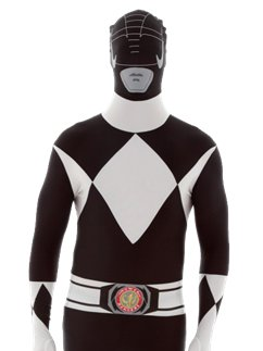 Zwart Power Ranger Morphsuit