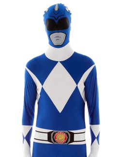 Blauw Power Ranger Morphsuit