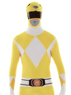 Geel Power Ranger Morphsuit