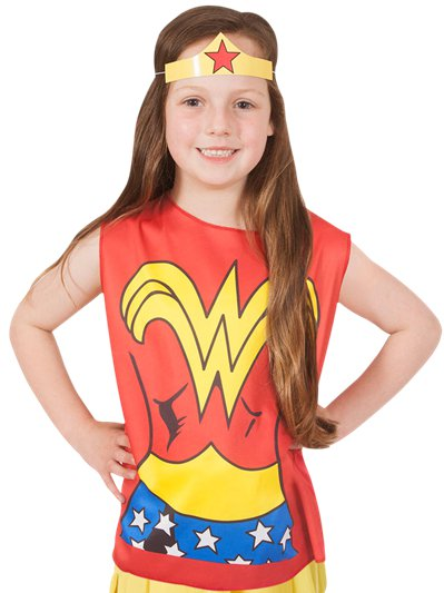 Wonder Woman Set Kinderkostuum
