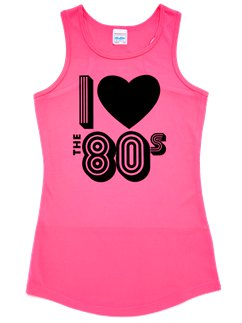 I Love the 80's Roze Hemd