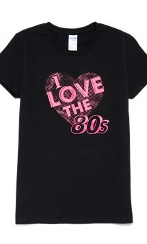 I Love the 80's T-shirt - Volwassene Kostuum