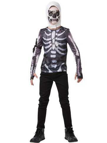 Fortnite Skull Trooper Set - Kinder & Tiener Kostuum front