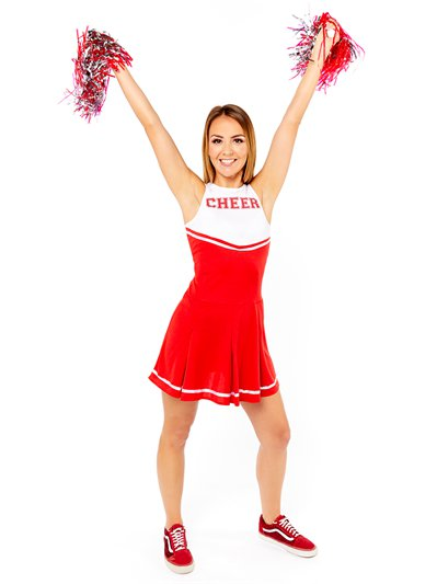 Rode High School Cheerleader - Volwassene Kostuum
