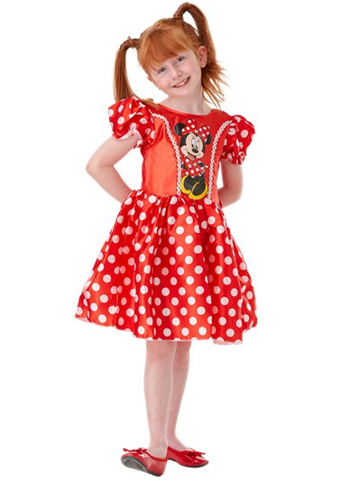 Minnie Mouse Rood Klassiek - Kinderkostuum