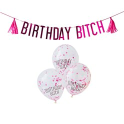 Birthday Bitch Banner & Ballonnen Pakket