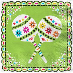 Mexicaanse Fiesta Lunch Servetten - 33 cm