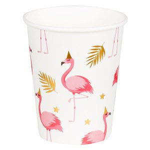 Flamingo Papieren Bekers - 250 ml