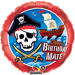 Happy Birthday Mate Piraten Schip Ballon - 46 cm Folie