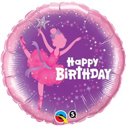 Ballerina Happy Birthday Ballon - 46 cm Folie