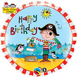 Rachel Ellen Happy Birthday Piraten Ballon - 46 cm Folie