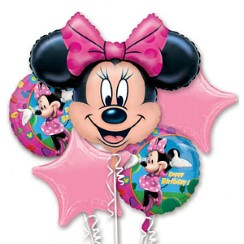 Minnie Mouse Ballon Boeket - Assortiment Folie