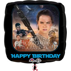 Star Wars The Force Awakens Happy Birthday Ballon - 46 cm Folie