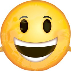 Emoji Smiling Face SuperShape Ballon - 99 cm Folie