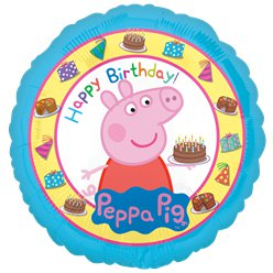 Peppa Pig Happy Birthday Ballon - 46 cm Folie