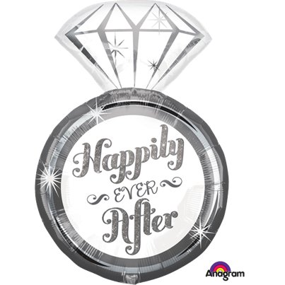 Happily Ever After Ring Supershape Ballon - 68.5 cm Folie