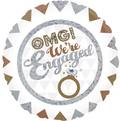 OMG We're Engaged Holografische Folie Ballon - 46 cm