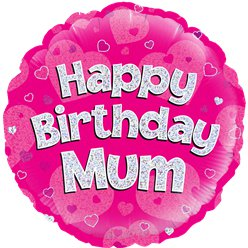 Happy Birthday Mama Roze Ballon - 46 cm Folie