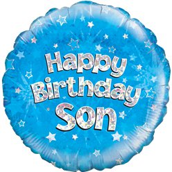 Happy Birthday Zoon Blauwe Ballon - 46 cm Folie