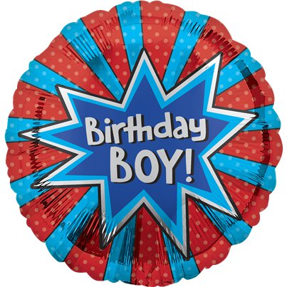 Birthday Boy Ballon - 46 cm Folie