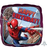 'Happy Birthday' Spider-Man Folie Ballon - 46 cm