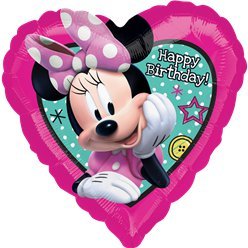 Minnie Mouse 'Happy Birthday' - 46 cm Folie Ballon