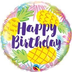 Happy Birthday Ananas Folie Ballon - 46 cm Ballon