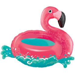 Drijvende Flamingo Supershape Ballon - 76 cm Folie
