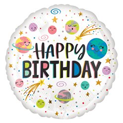 Galaxy Happy Birthday Ballon - 46 cm Folie