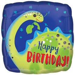 Brontosaurus Happy Birthday Ballon - 46 cm Folie